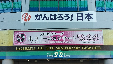 akb48ドームコンサート看板