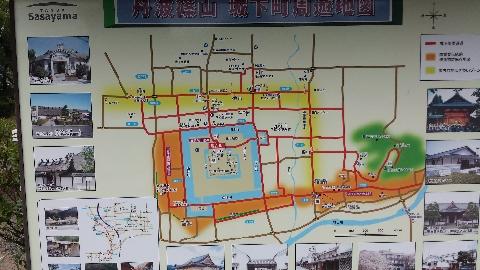 篠山周辺観光マップ
