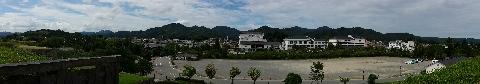 篠山城から見た丹波の風景