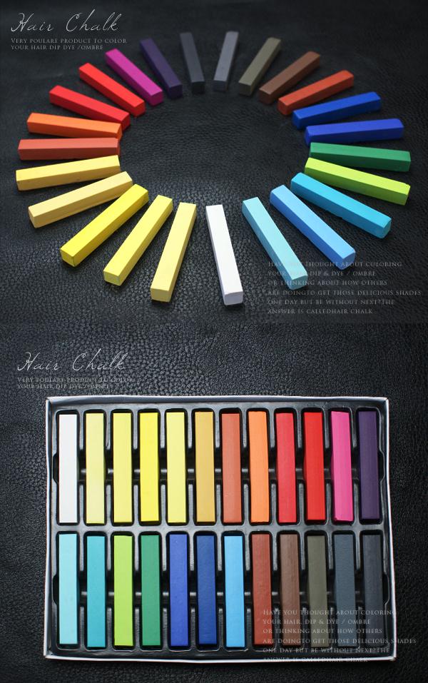 24色のヘアチョーク