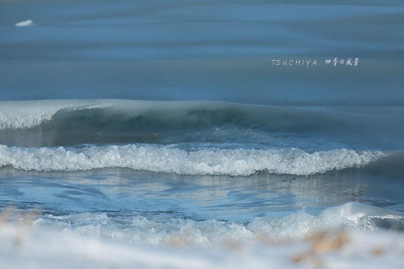 野付半島の波