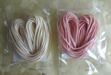・ 紅ハートうどん(約50g)×1袋 ・ 白ハートうどん(約50g)×1袋