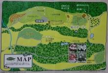 パンフレットの地図