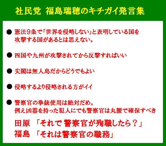 福島瑞穂のキチガイ発言集