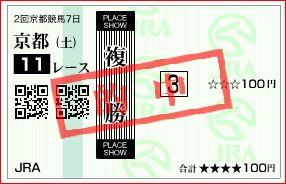 京都11R 複勝