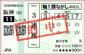大阪杯 3連複