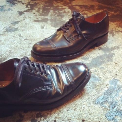 sandersサンダース8803b革靴黒
