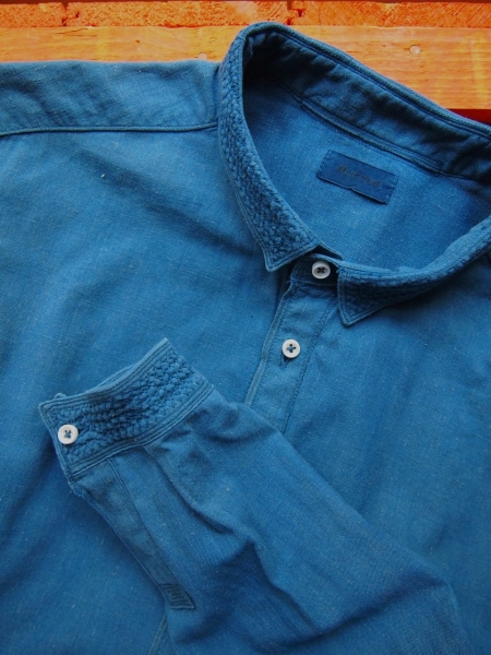 MITTANミタンkhadishirtsカディシャツindigo藍染め01