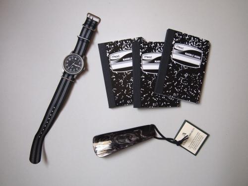 メッサーシュミット腕時計meadマーブルメモ黒ABBEYHORNアビーホーン