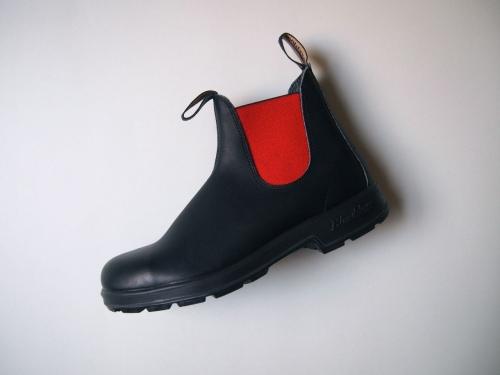 Blundstoneブランドストーン#508サイドゴアブーツ黒black2014AW新色赤red