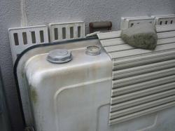 ボイラーの灯油タンク