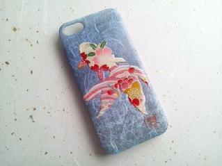 iPhoneカバー スマホカバー 和紙 和柄 和風 友禅和紙 モダン 日本風 夏
