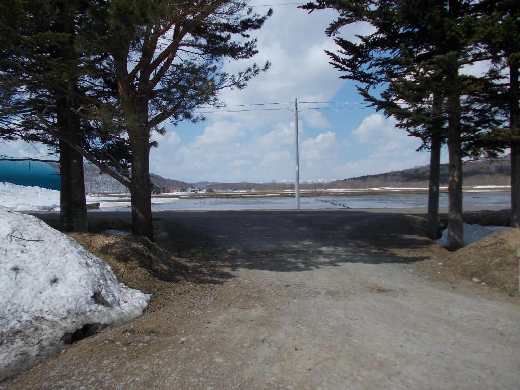 20140417_田んぼにたまった雪解け水