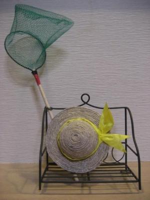 140709工作・麦わら帽子と虫取り網