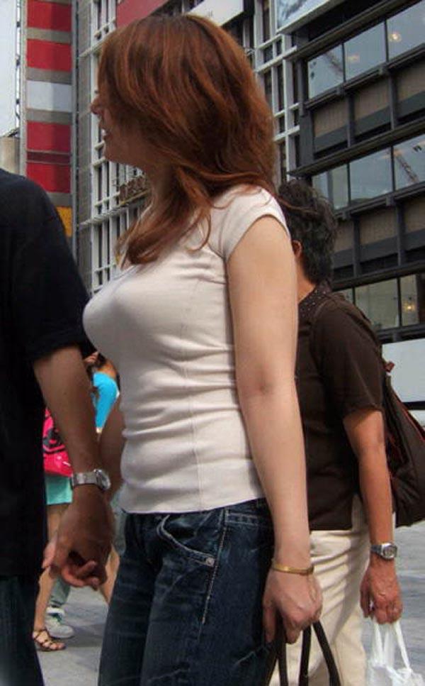 街撮り盗撮 着衣巨乳画像 23