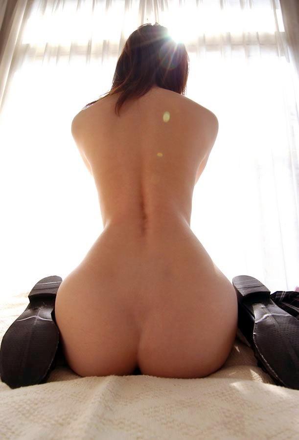 【背中】女性の後ろ姿が色っぽい背中フェチ画像 67