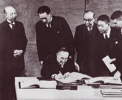サンフランシスコ条約サイン