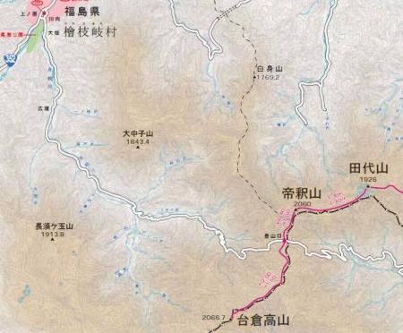 台倉高山ルート1