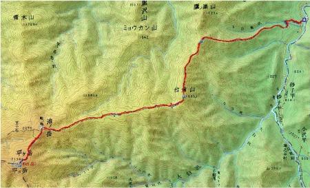 平賀岳マップ