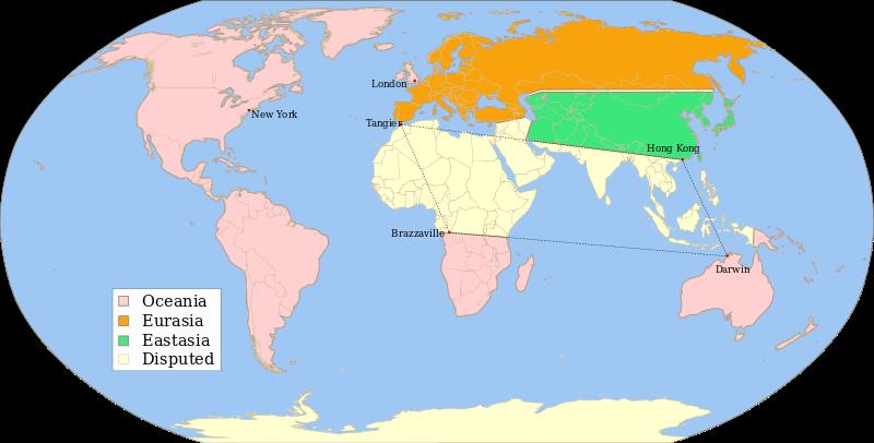 1984年世界地図