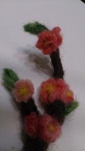 羊毛小物 桃