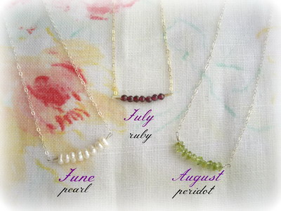 birth stone jewelry