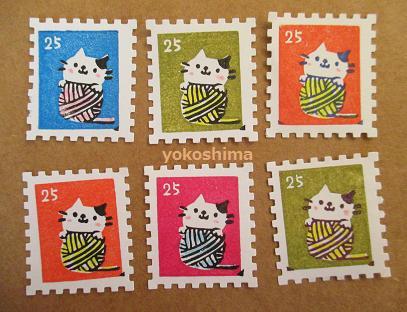 2014 4 2 毛糸猫切手2
