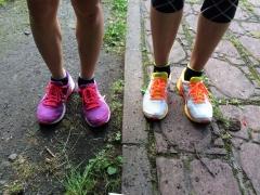 アスリート二人の靴