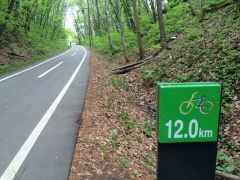 白石CR 12キロ地点