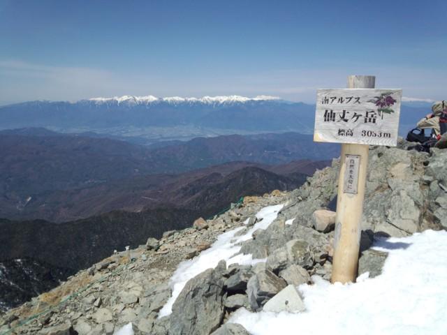 5月4日 仙丈ケ岳ピーク3033m