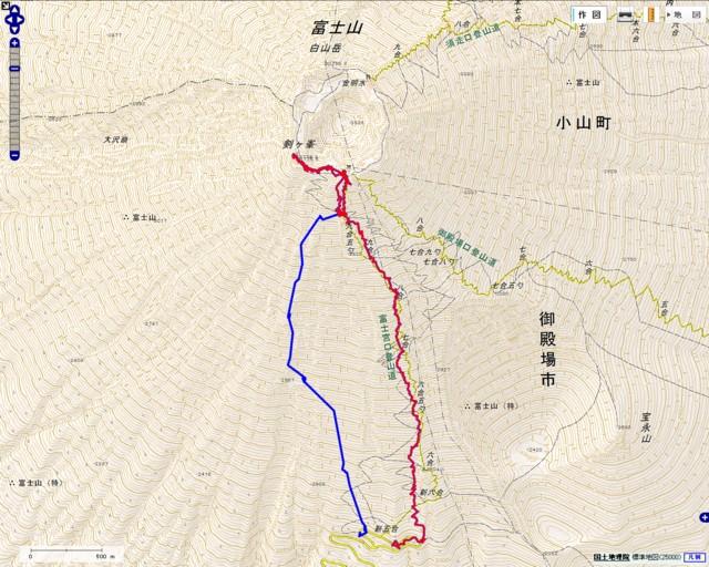 5月11日 富士山GPSログ
