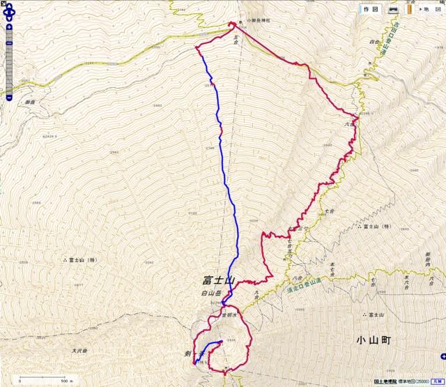 6月14日 富士山GPSログ