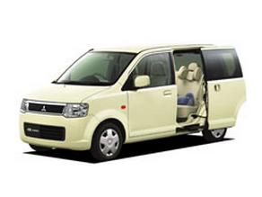 三菱 eKワゴン スライド 黄色