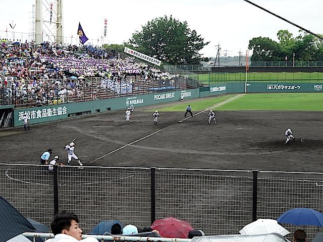 単身赴任みちのく日記 高校野球@浜松球場