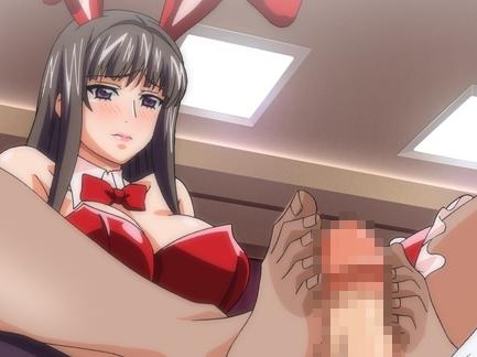 黒タイツ美脚の生徒会長がレ〇プされ性奴隷になる足コキアニメの脚フェチDVD画像6