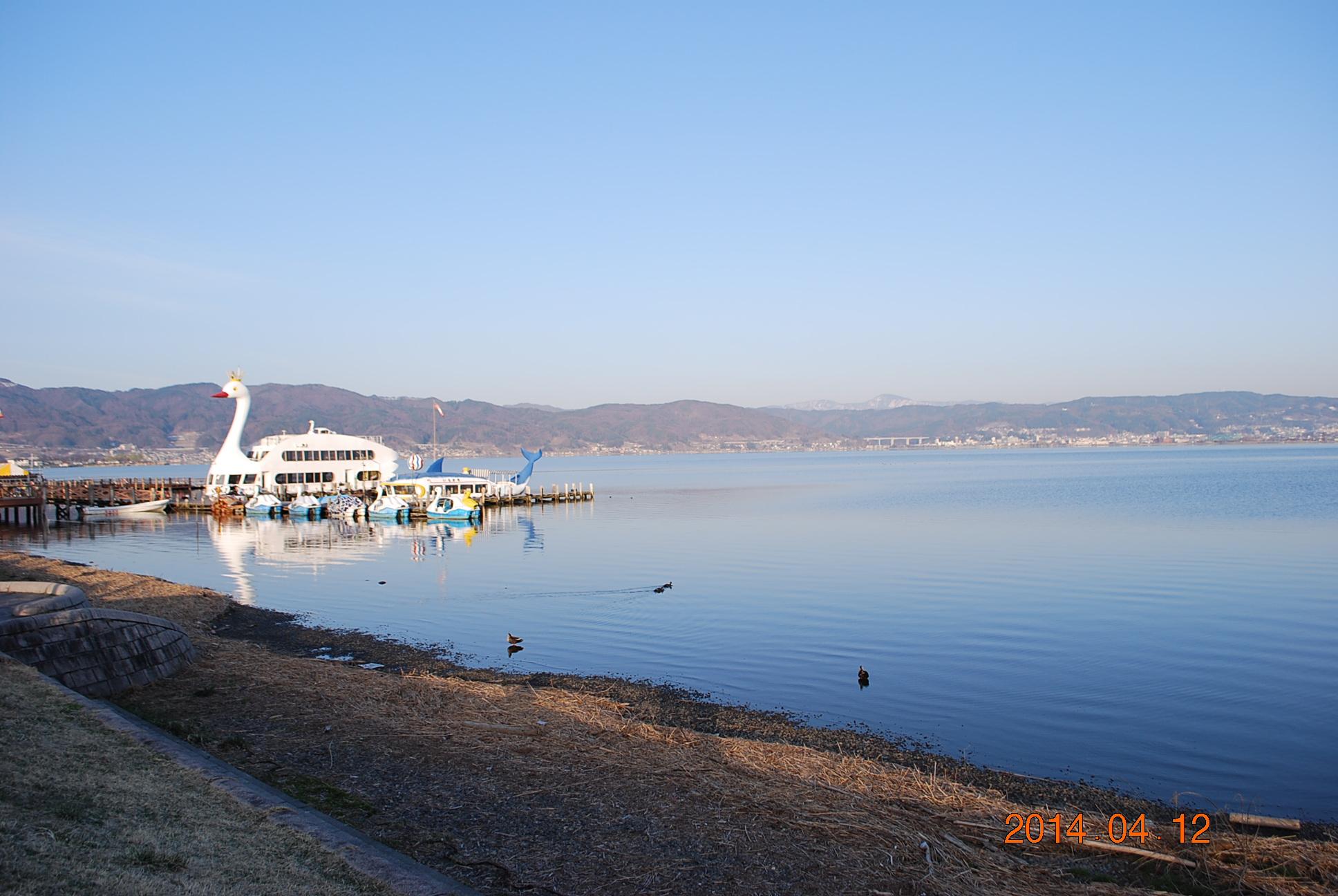 諏訪湖 朝の風景2