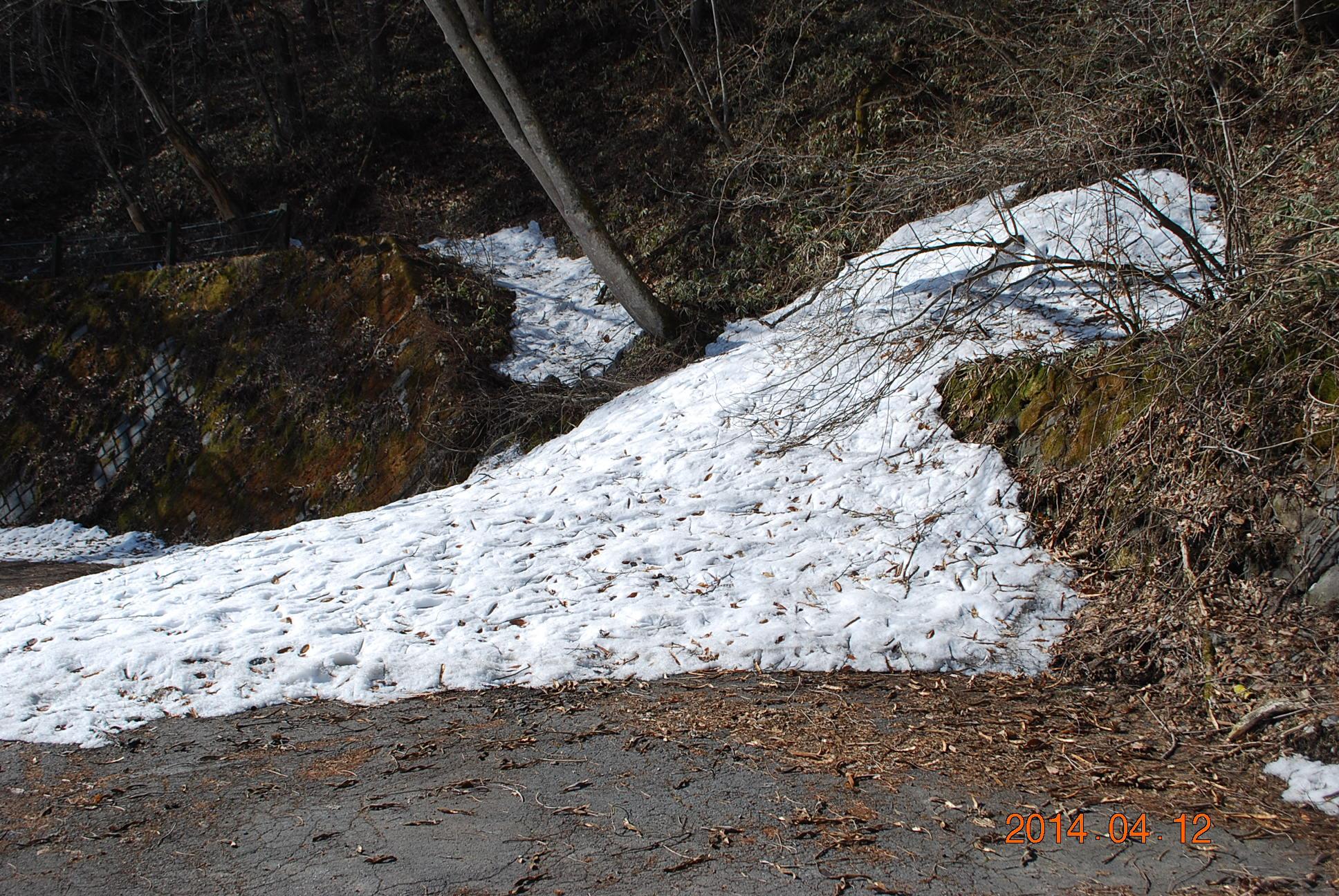 残雪 みはらしはし付近