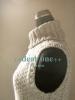 タートルネックのベスト#3 ~ベージュツィード×メリヤスボーダー~(2014/03/09)