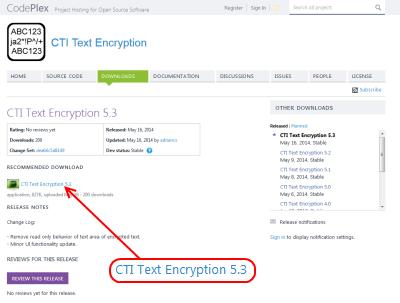 CTI Text Encryption ダウンロードページ