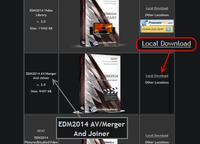EDM2014 AV Merger and Joiner ダウンロードページ