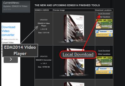 EDM2014 Video Player ダウンロードページ