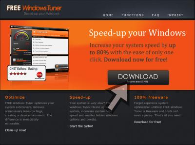 Free Windows Tuner ダウンロードページ