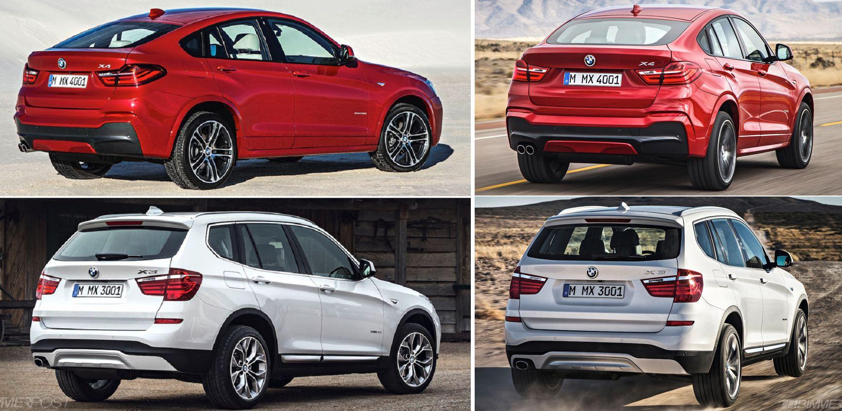 BMW X4 X3 compare2