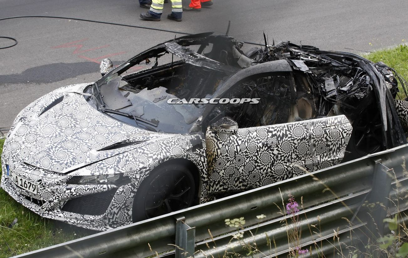 honda NSX burned5