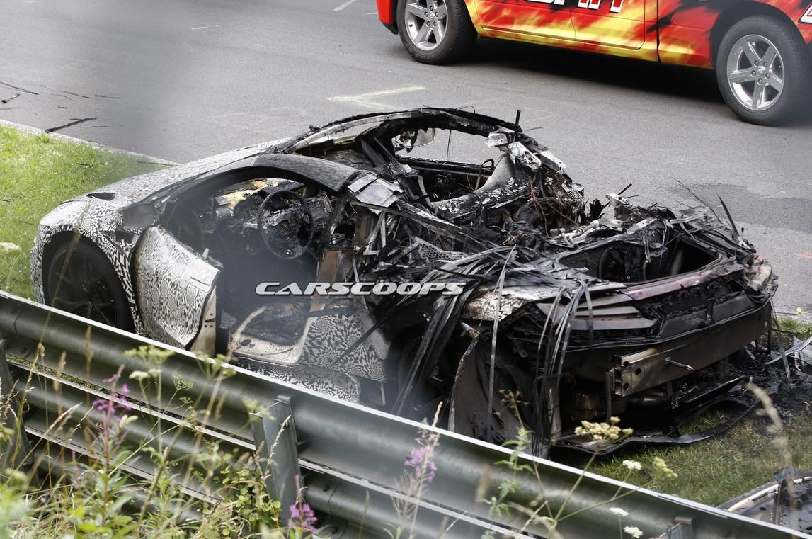 honda NSX burned2