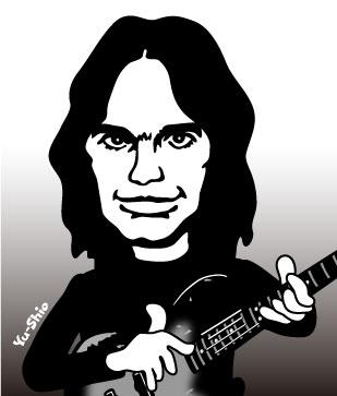Jaco Pastorius caricature
