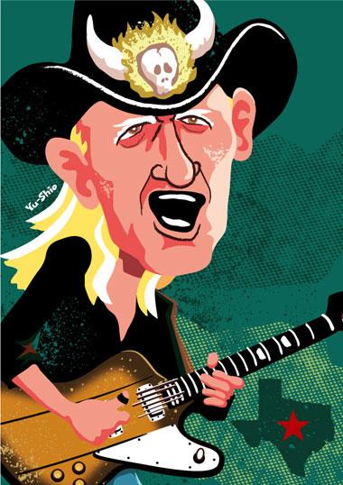 Johnny Winter caricature