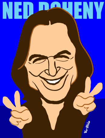 Ned Doheny caricature