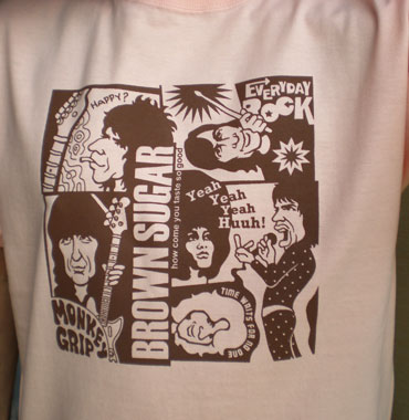 EverydayRock T Shirt Rolling Stones Caricature