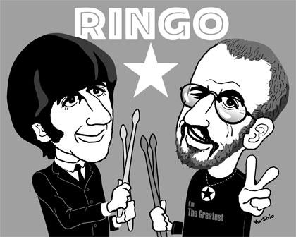 Ringo Starr caricature